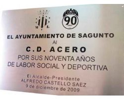 Placa acero satinado